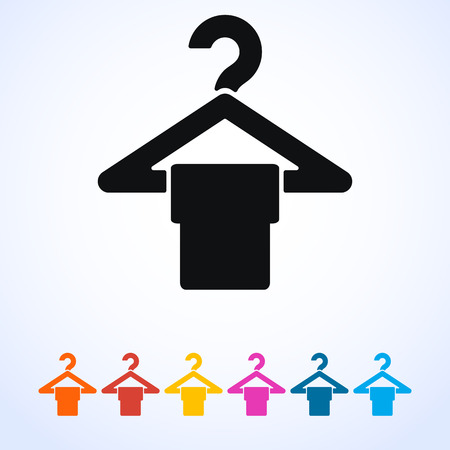 coat rack: hanger icon.vector illustration.