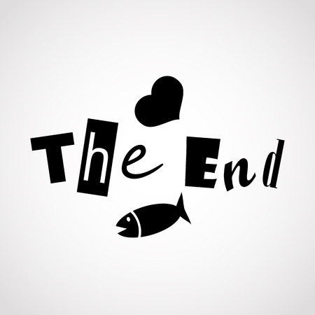 the end.vector illustration. Vector