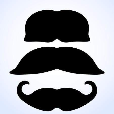 fake mustaches: moustache set.vector illustration.