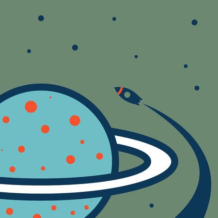 jupiter light: planet.vector illustration.