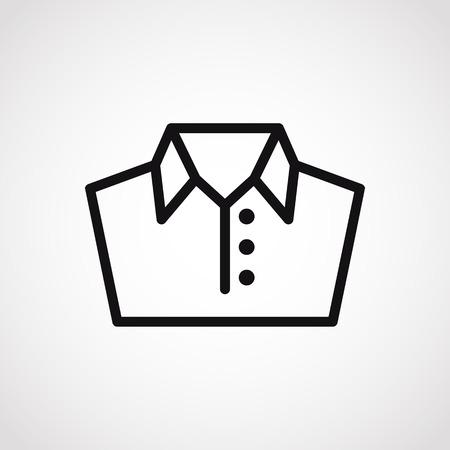 shirt men.vector illustration.