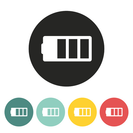 battery icon.vector illustration. Vector