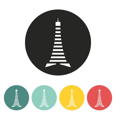 eifel tower: Eiffel Tower icon.vector illustration.