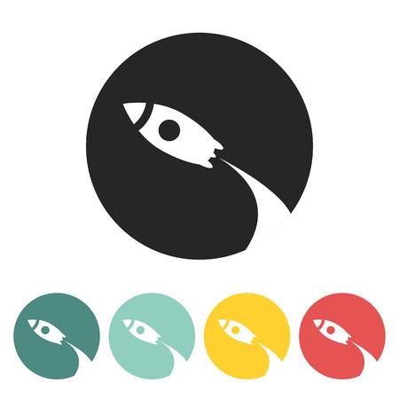Rocket icon.Vector illustration.