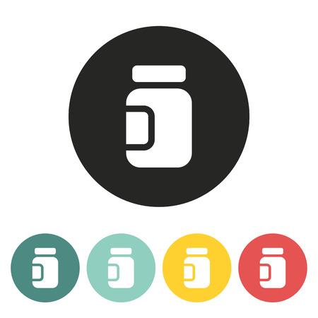 unlabeled: Glass Jar icon.vector illustration. Illustration