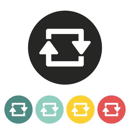 two arrows: Repeat two arrows icon.vector illustration.