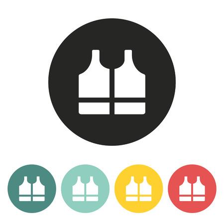 life jacket: life jacket icon.vector illustration.