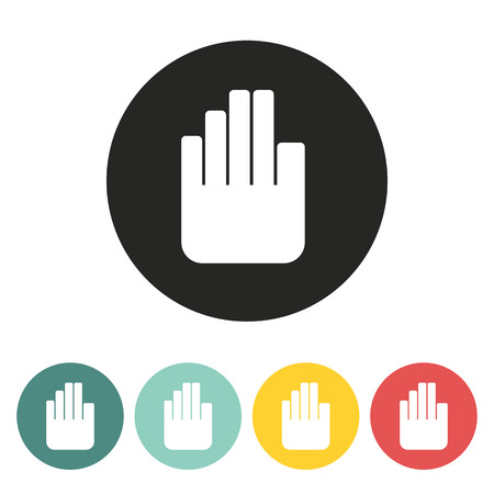 hand stop icon.vector illustration. Vector