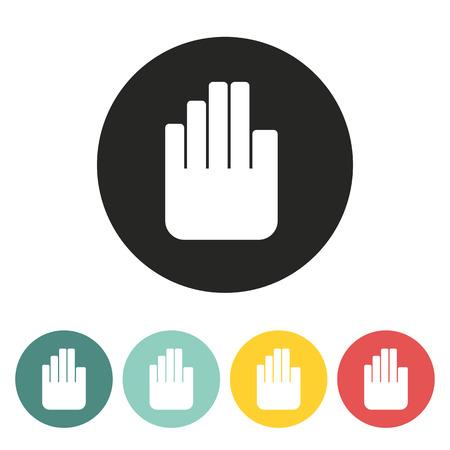 hand stop: hand stop icon.vector illustration. Illustration