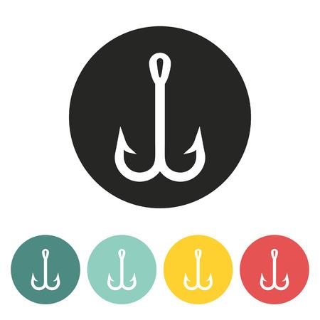 fish hook: Fish hook icon.Vector illustration.