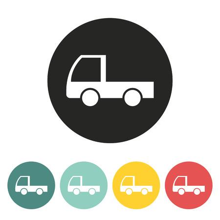 cargo van: Cargo van icon.Vector illustration.