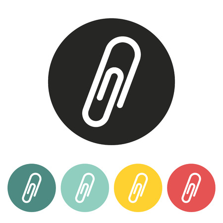 paper fastener: Paper clip icon.Vector illustration.