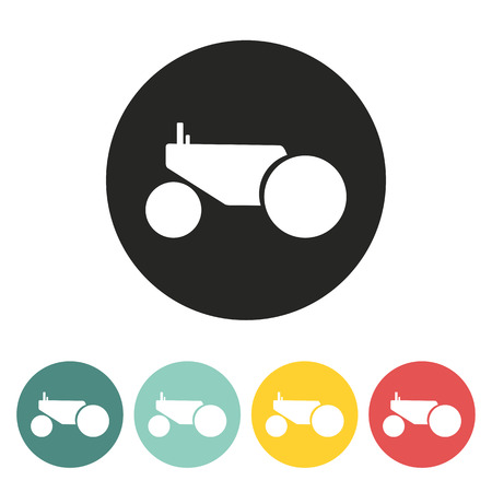 tractor icon.vector illustration. Vector