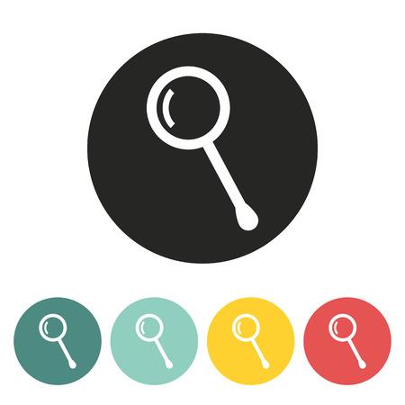 scrutiny: Magnifier icon.vector illustration.
