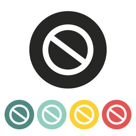 prohibition: Interdiction de signer icon.Vector illustration. Illustration