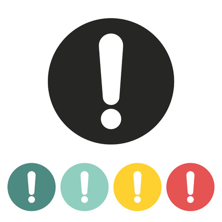 interjection: Exclamation mark icon.Vector illustration. Illustration