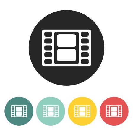 cinematographer: Film reel icon.Vector illustration.