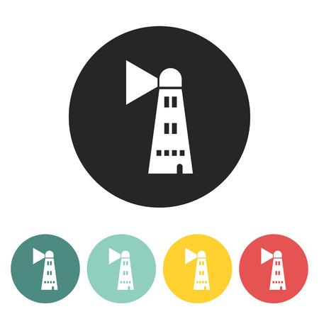 illuminative: Lighthouse icon.Vector illustration. Illustration