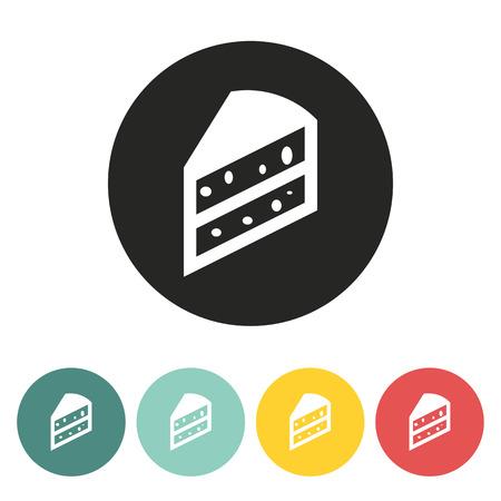 porcion de pastel: un pedazo de pastel de ilustraci�n icon.Vector.