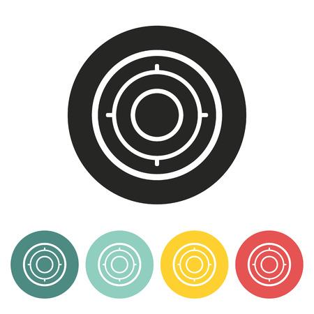Target icon.Vector illustration.