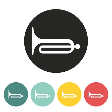 strident: Klaxon icon.Vector illustration.