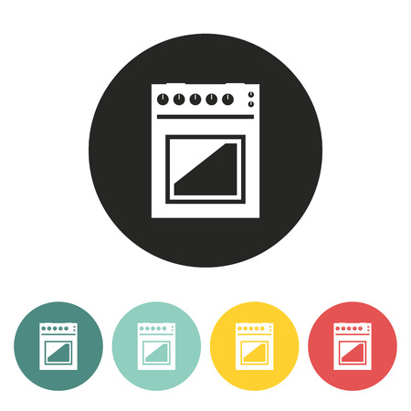 gas stove: Gas stove icon.Vector illustration.