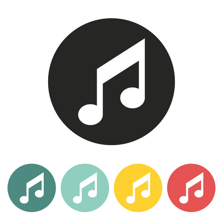 crotchets: Music note icon.Vector illustration.