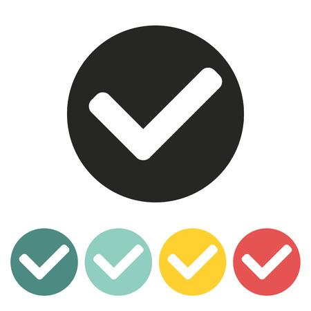 tick mark: Marca de la se�al icon.Vector ilustraci�n.