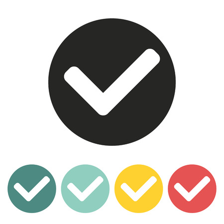 Tick mark icon.Vector illustration. Vector