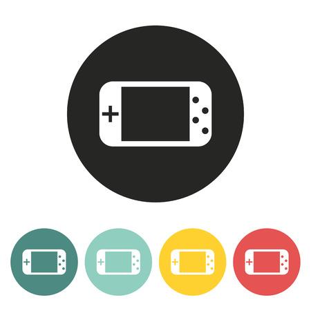 portable console: Game console.Vector illustration.