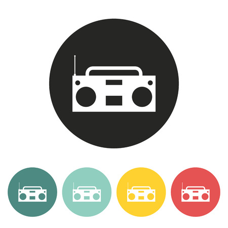 recorder: Tape recorder icon.vector illustration.
