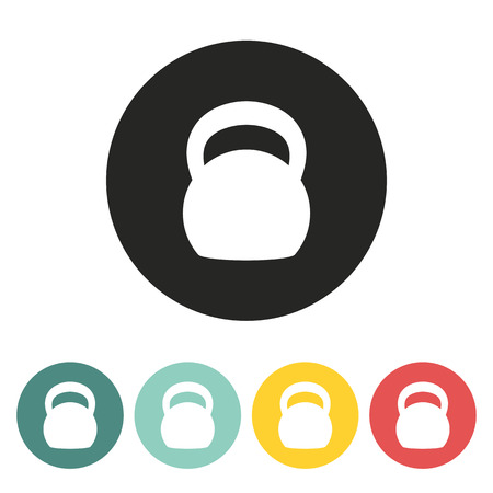 Kettlebell icon.vector illustration.