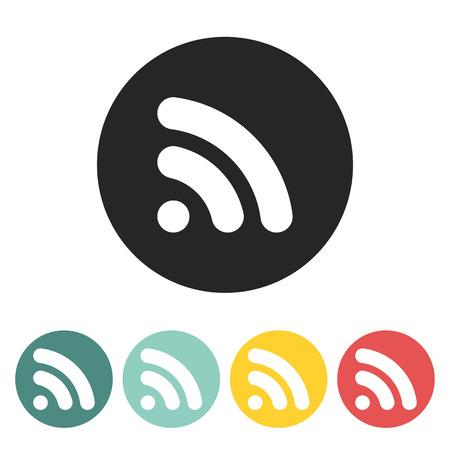 syndication: RSS icon.Vector illustration. Illustration