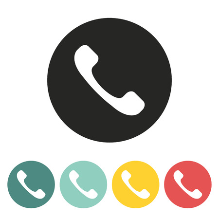 handset: Telephone handset icon.Vector illustration.