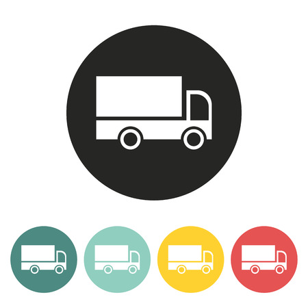 cargo transport: Cargo van icon.Vector illustration.