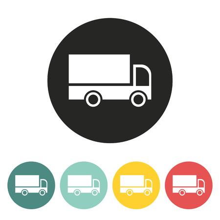 Cargo van icon.Vector illustration.