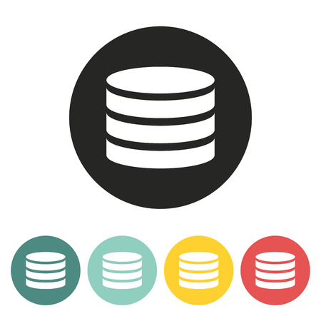 stack of coins: coin icon.vector illustration.