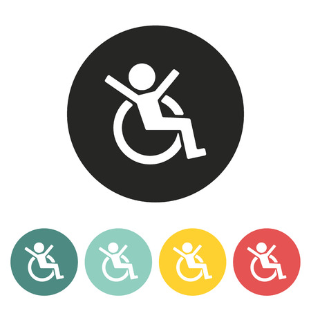 medicine wheel: Disabled icon.vector illustration. Illustration