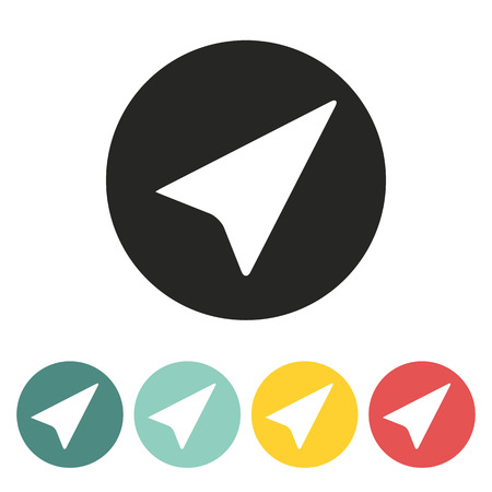 pilot light: paper airplane icon.vector illustration.