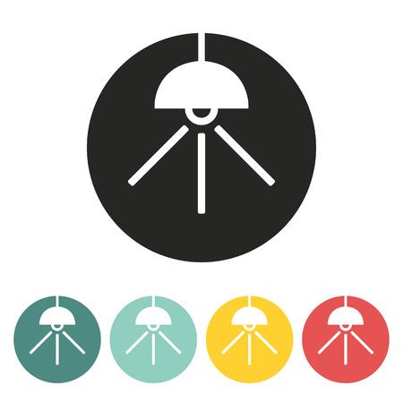hanging lamp: hanging lamp icon.vector illustration. Illustration