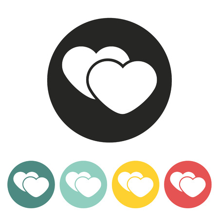 two hearts: Two hearts icon.Vector illustration. Illustration
