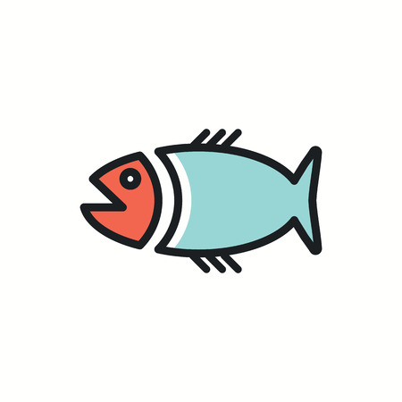 big fish: big fish icon illustration.