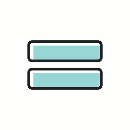 algebra calculator: Sign equally icon illustration. Illustration