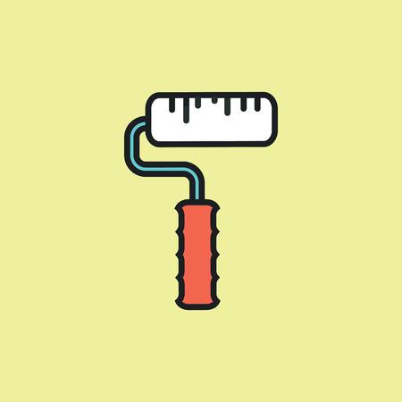 Roller icon illustration. Vector