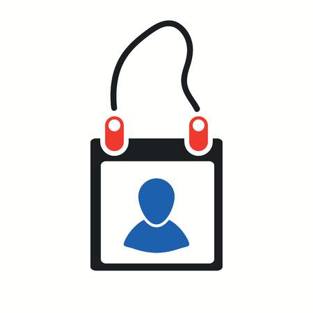 Membership Card Icon illustration.
