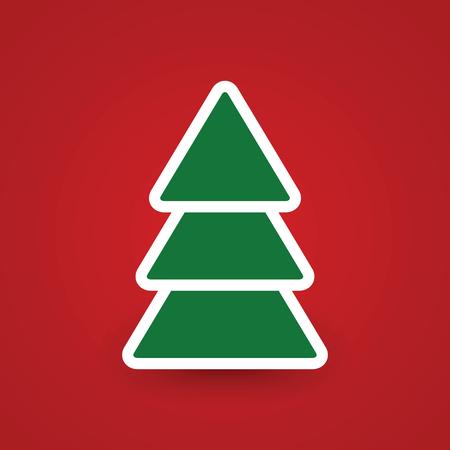 plain postcards: Christmas tree. Illustration