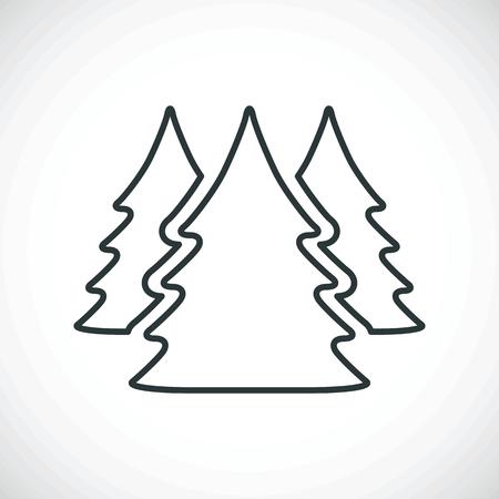 plain postcards: three Christmas trees.vector illustration. Illustration