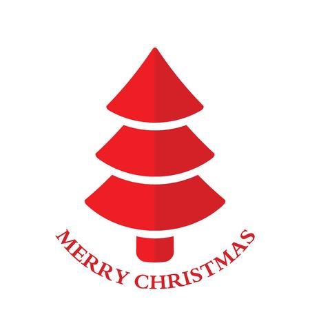 plain postcards: Christmas tree.vector illustration. Illustration