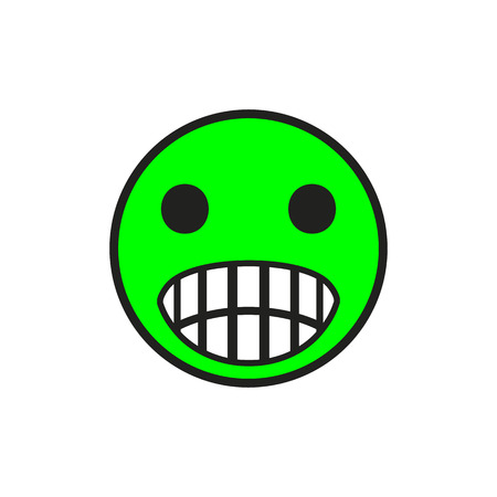 green face: Smiley Face.vector illustration.