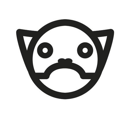 grumpy: grumpy cat.vector illustration. Illustration